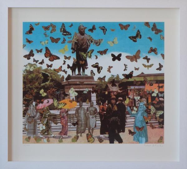 Homage-Damien-Hirst-Tokyo-Sir-Peter-Blake-Limited-Edition-Print-framed