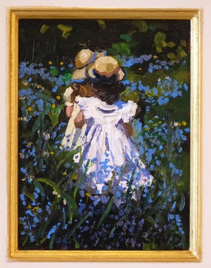 sherree valentine daines a walk in the bluebells close up